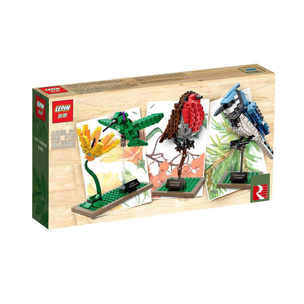 ساختنی لپین طرح ماکت پرندگان کمیاب مدل Ideas 36009 Birds