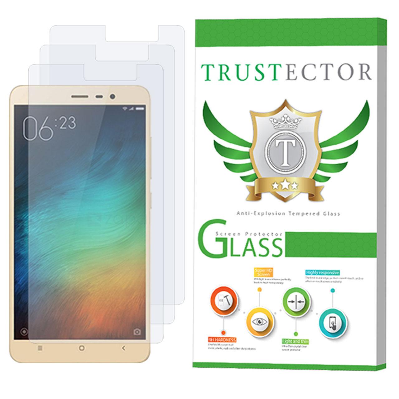 محافظ صفحه نمایش تراستکتور مدل GLS مناسب برای گوشی موبایل شیائومی Redmi Note 3 بسته 3 عددی
