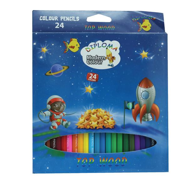 مداد رنگی 24 رنگ دیپلما کد TB-0088