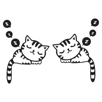 استیکر کلید و پریز طرح پیشی خوابالو بسته ۲ عددی