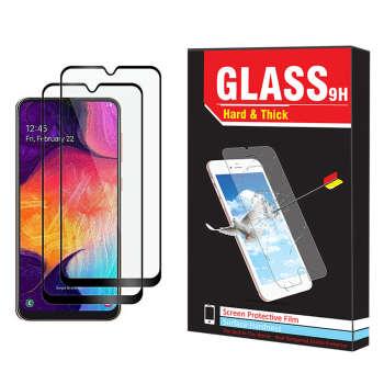 محافظ صفحه نمایش hard and thick مدل F-001 مناسب برای گوشی موبایل سامسونگ Galaxy A50 بسته دو عددی
