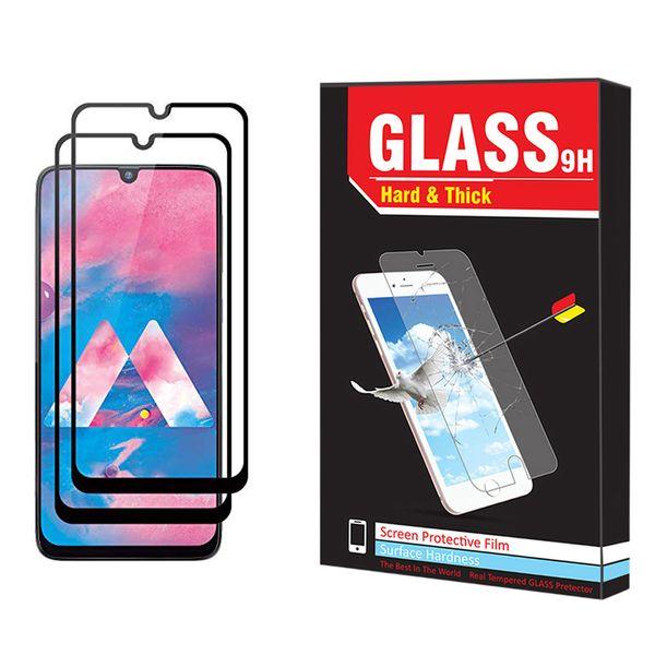 محافظ صفحه نمایش hard and thick مدل F-001 مناسب برای گوشی موبایل سامسونگ Galaxy M30 بسته دو عددی
