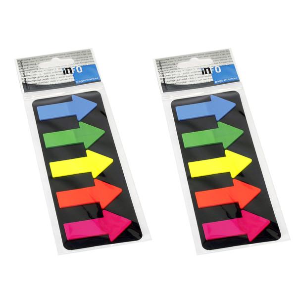 کاغذ علامت گذار چسب دار اینفو مدل 09-2683 بسته 2 عددی