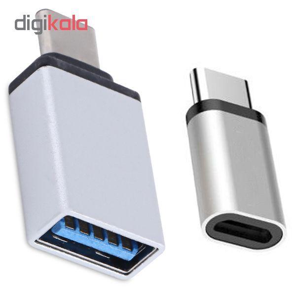 مبدل OTG USB-C  مدل D-11 به همراه مبدل microUSB به USB-C main 1 1