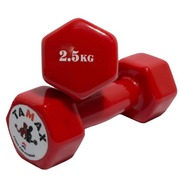 دمبل تامکس کد 002 وزن 2.5 کیلوگرم بسته 2 عددی