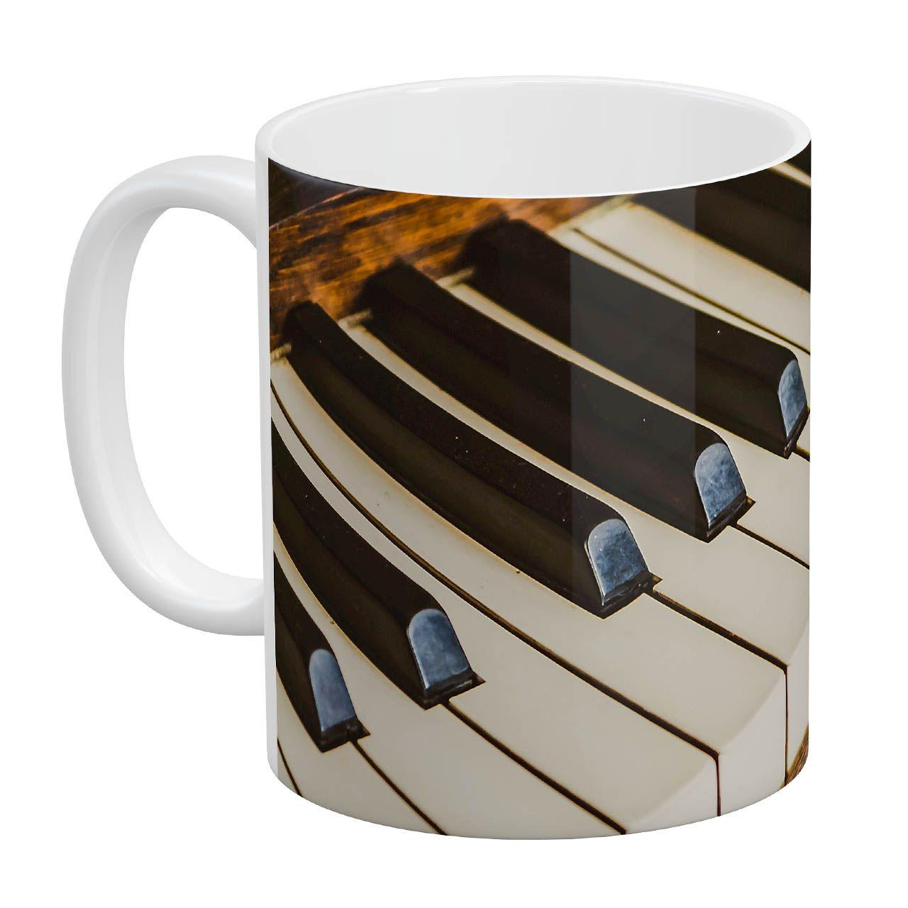ماگ آبنبات رنگی طرح پیانو کد AR0920