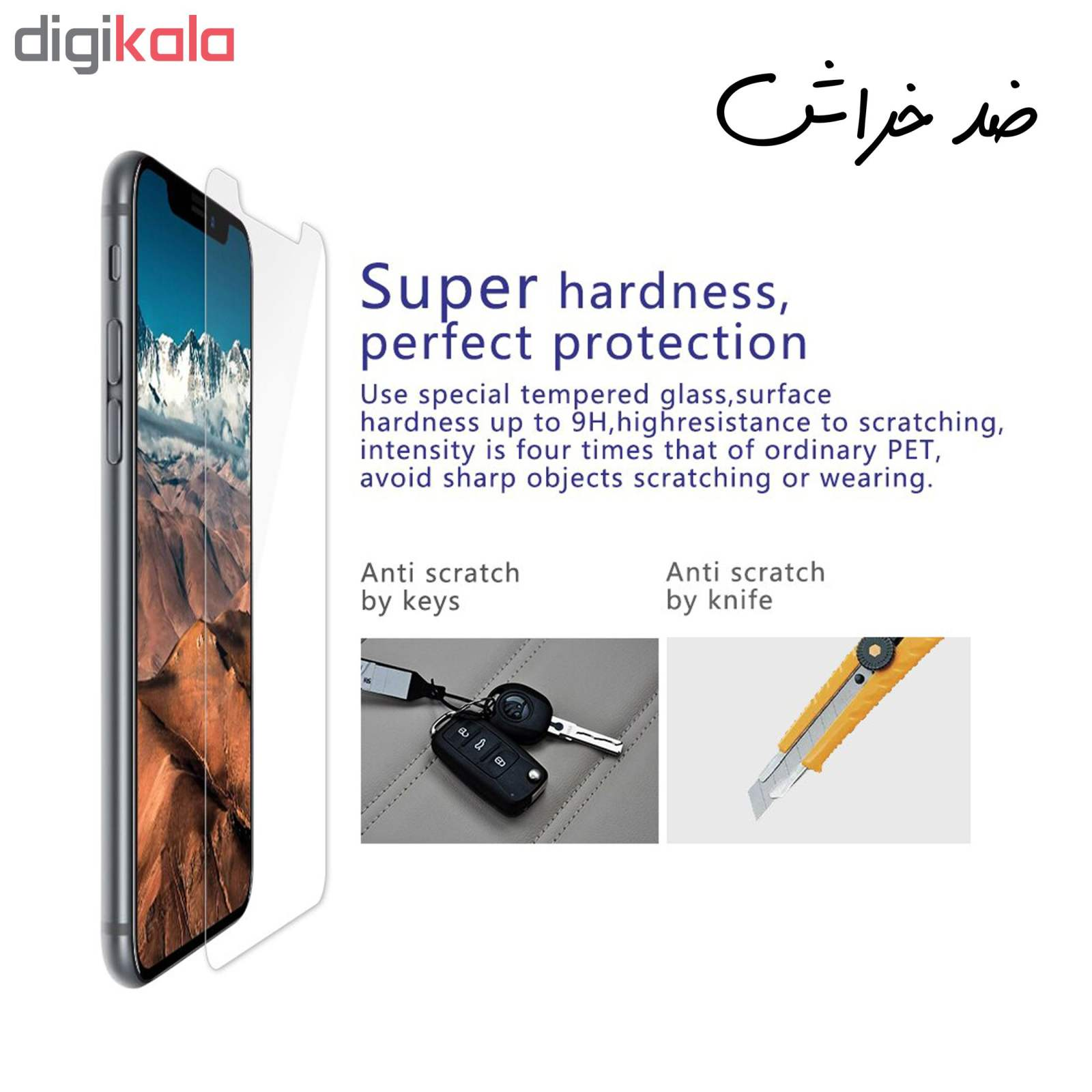 محافظ صفحه نمایش hard and thick مدل F-001 مناسب برای گوشی موبایل سامسونگ Galaxy A20 بسته دو عددی main 1 4
