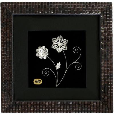 Photo of تابلو نقره سالی وان طرح گل های بهاری مدل 16-16