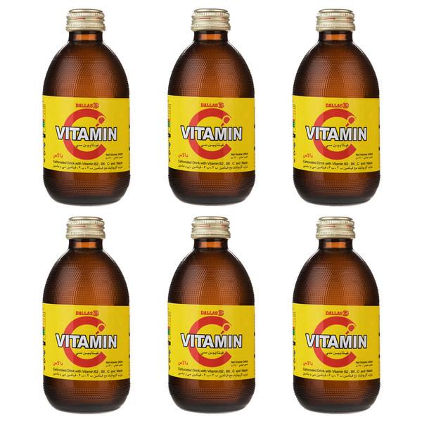 نوشیدنی گازدار ویتامین C دالاس حجم 240 میلی لیتر بسته 6 عددی