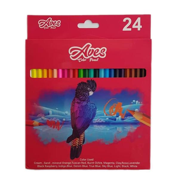 مداد رنگی ۲۴ رنگ اویز مدل فان