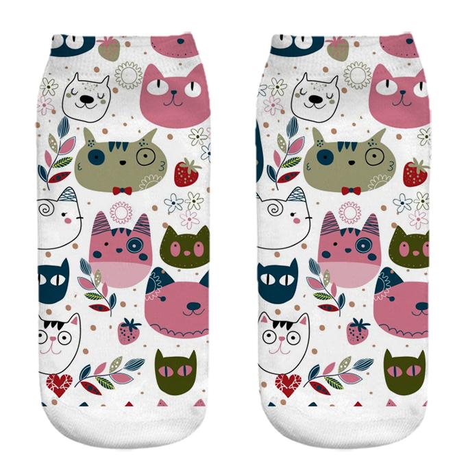 جوراب زنانه طرح گربه کد CH1065