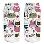 جوراب زنانه طرح گربه کد CH1065 thumb