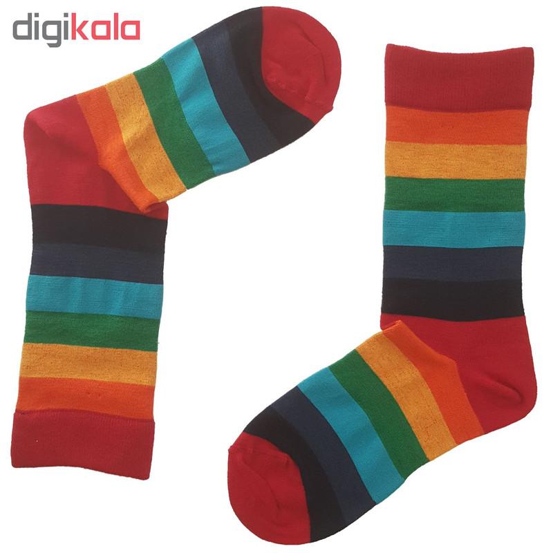 جوراب زنانه ال سون طرح رنگین کمان کد PH131