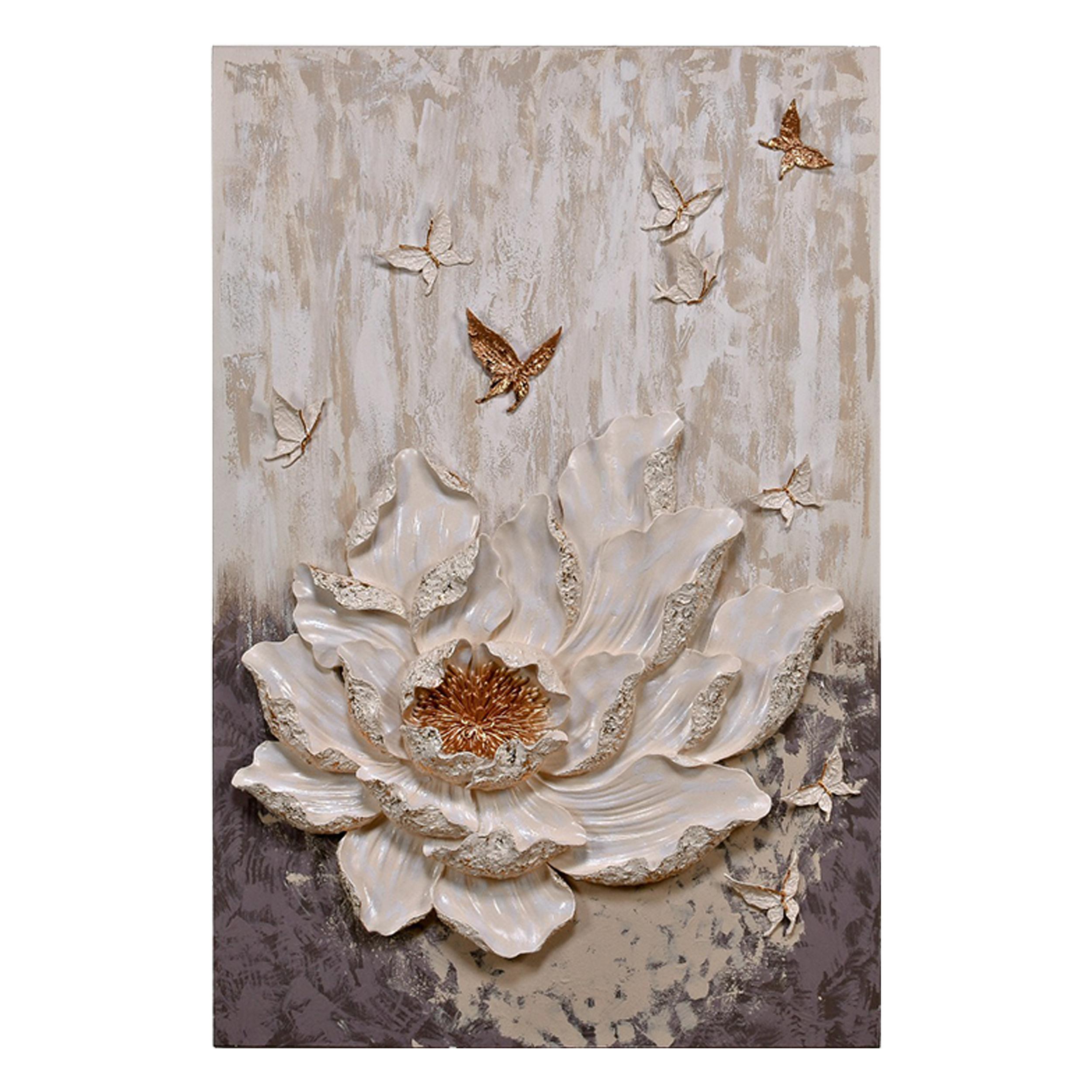 تابلو شاسی  طرح گل و پروانه  کد r0015