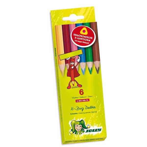 مداد رنگی 6 رنگ جولی مدل دلتا 0003-3399