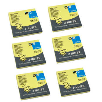 کاغذ یادداشت اینفو مدل آکاردئونی 34-5644 بسته 6 عددی