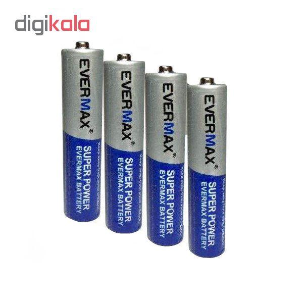 باتری نیم قلم اورمکس کد 4545 بسته 4 عددی