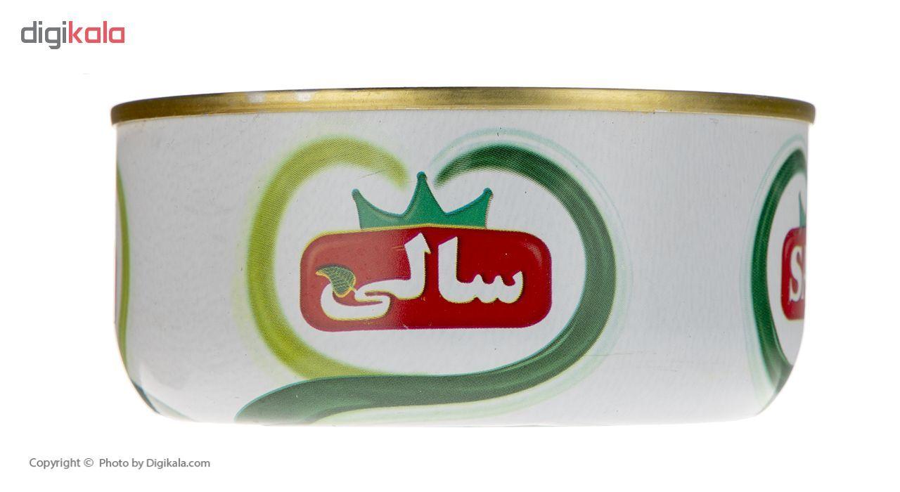 کنسرو ماهی تون و لوبیا چیتی در سس گوجه فرنگی سالی مقدار 250 گرم main 1 3