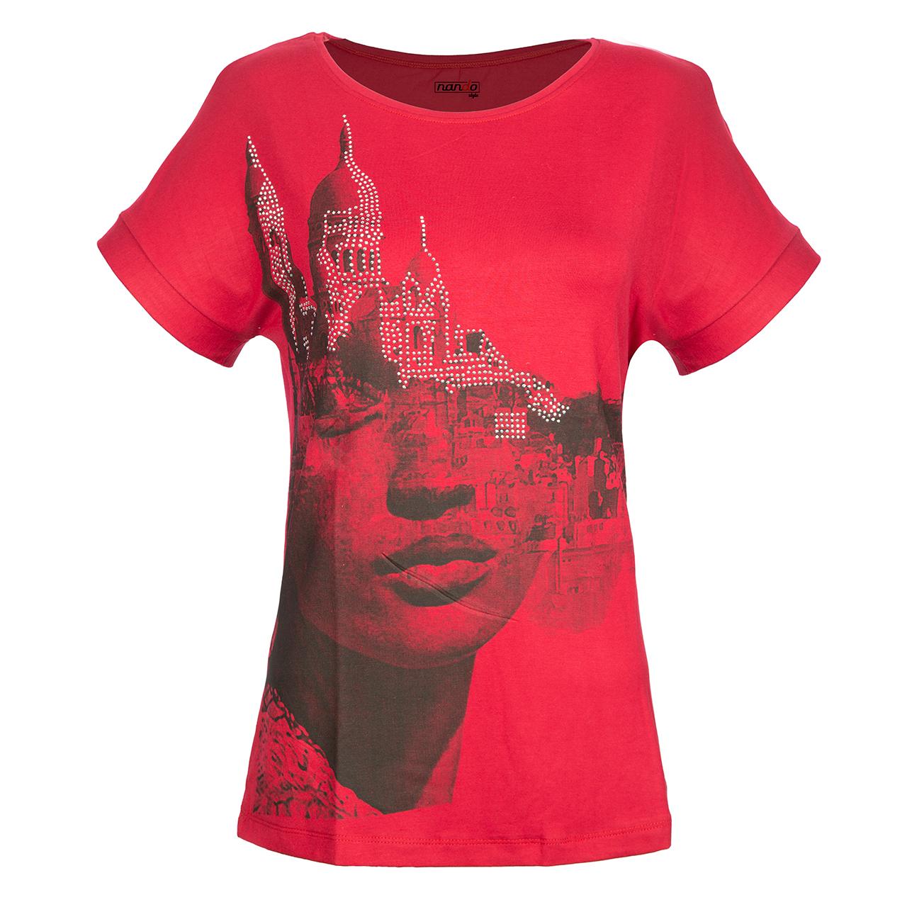 تی شرت زنانه ناندو استایل مدل رخ کد NS31
