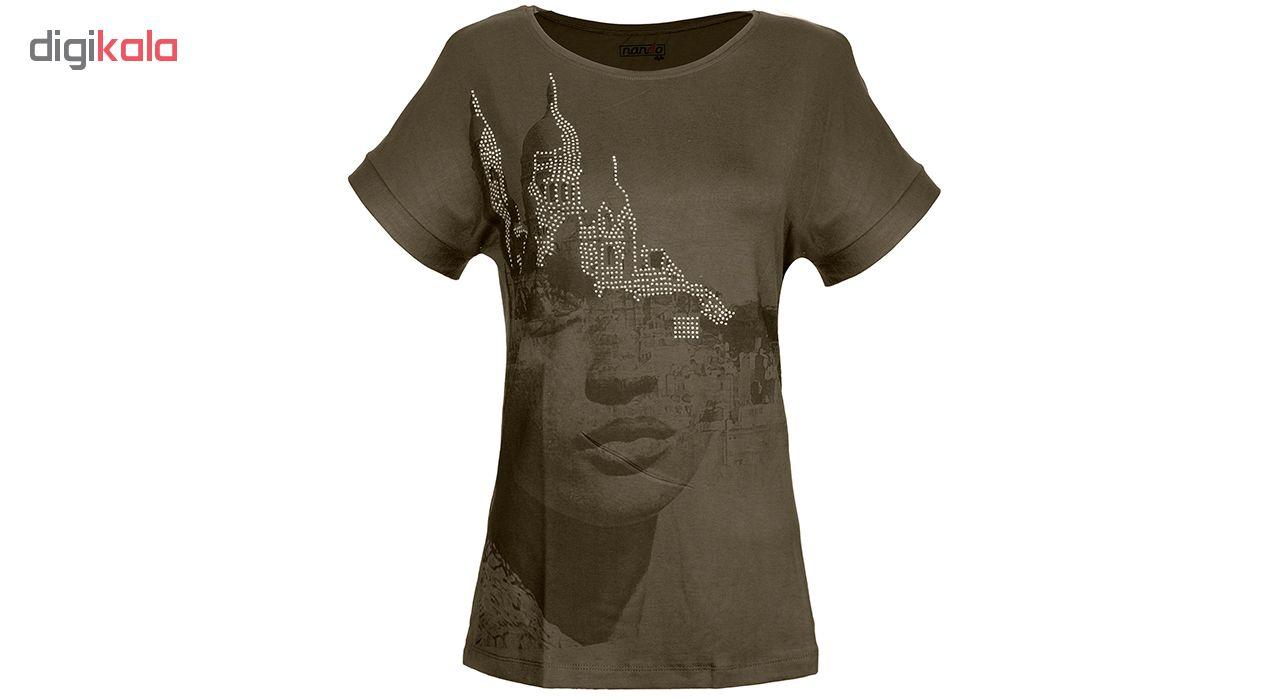 تی شرت زنانه ناندو استایل مدل رخ کد NS32