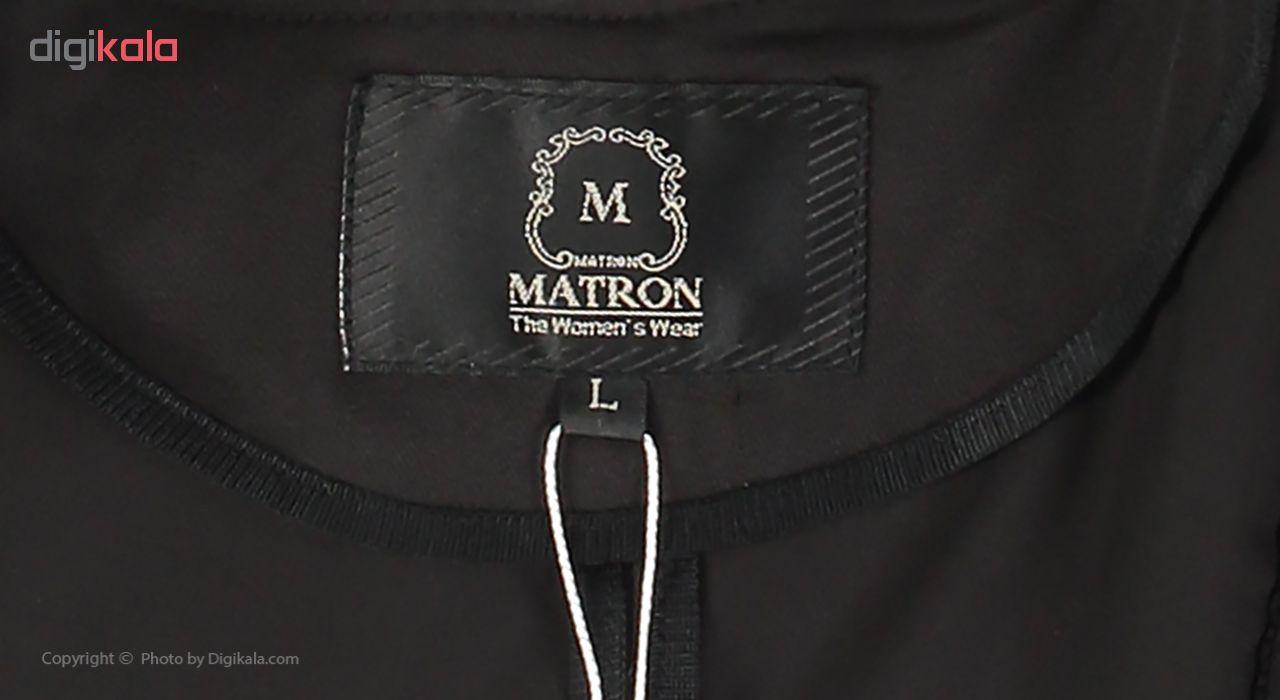 مانتو زنانه ماترن کد 8107 رنگ مشکی