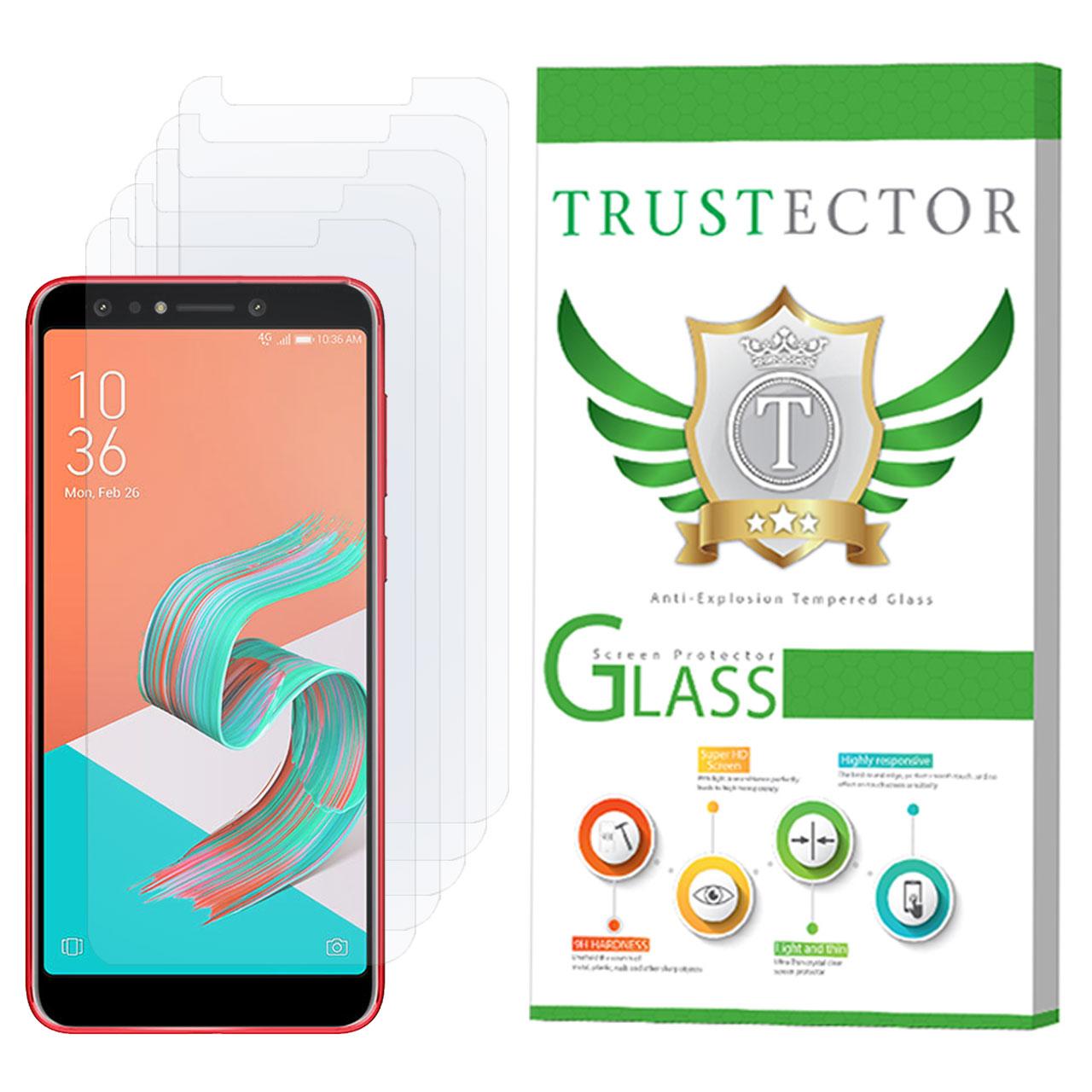 محافظ صفحه نمایش تراستکتور مدل GLS مناسب برای گوشی موبایل ایسوس Zenfone 5 Lite ZC600KL بسته 5 عددی