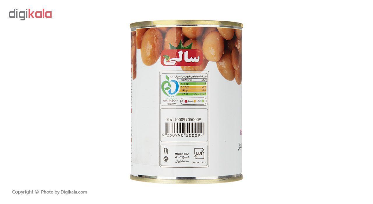 کنسرو لوبیا چیتی با قارچ سالی - 395 گرم main 1 2
