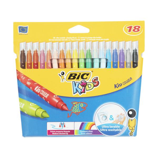ماژیک رنگ آمیزی 18 رنگ بیک مدل Kid Color