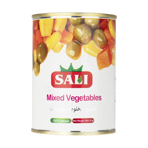 کنسرو مخلوط سبزیجات سالی - 380 گرم