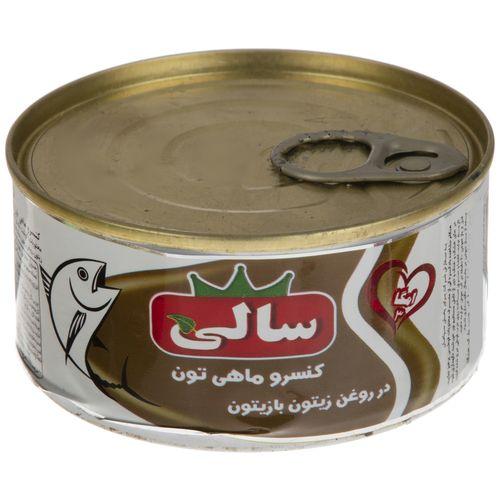 کنسرو ماهی تون در روغن زیتون با زیتون سالی مقدار 180 گرم