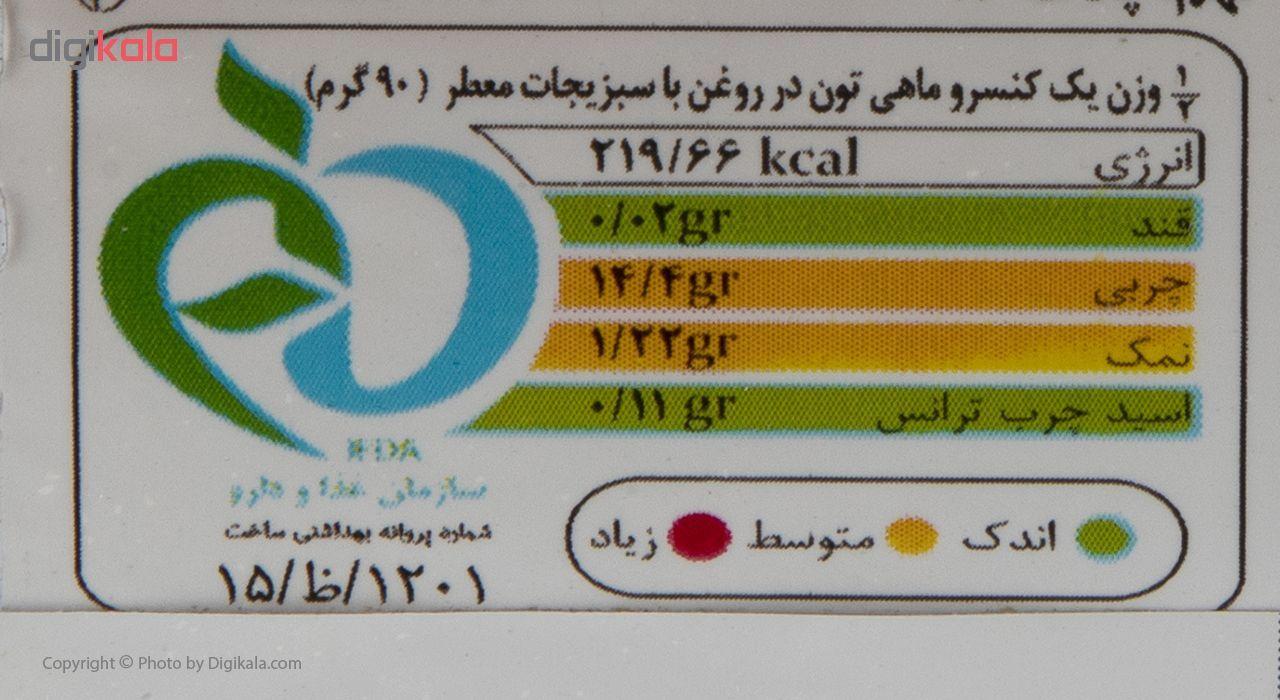 کنسرو ماهی تون در روغن با سبزیجات معطر سالی مقدار 180 گرم main 1 4