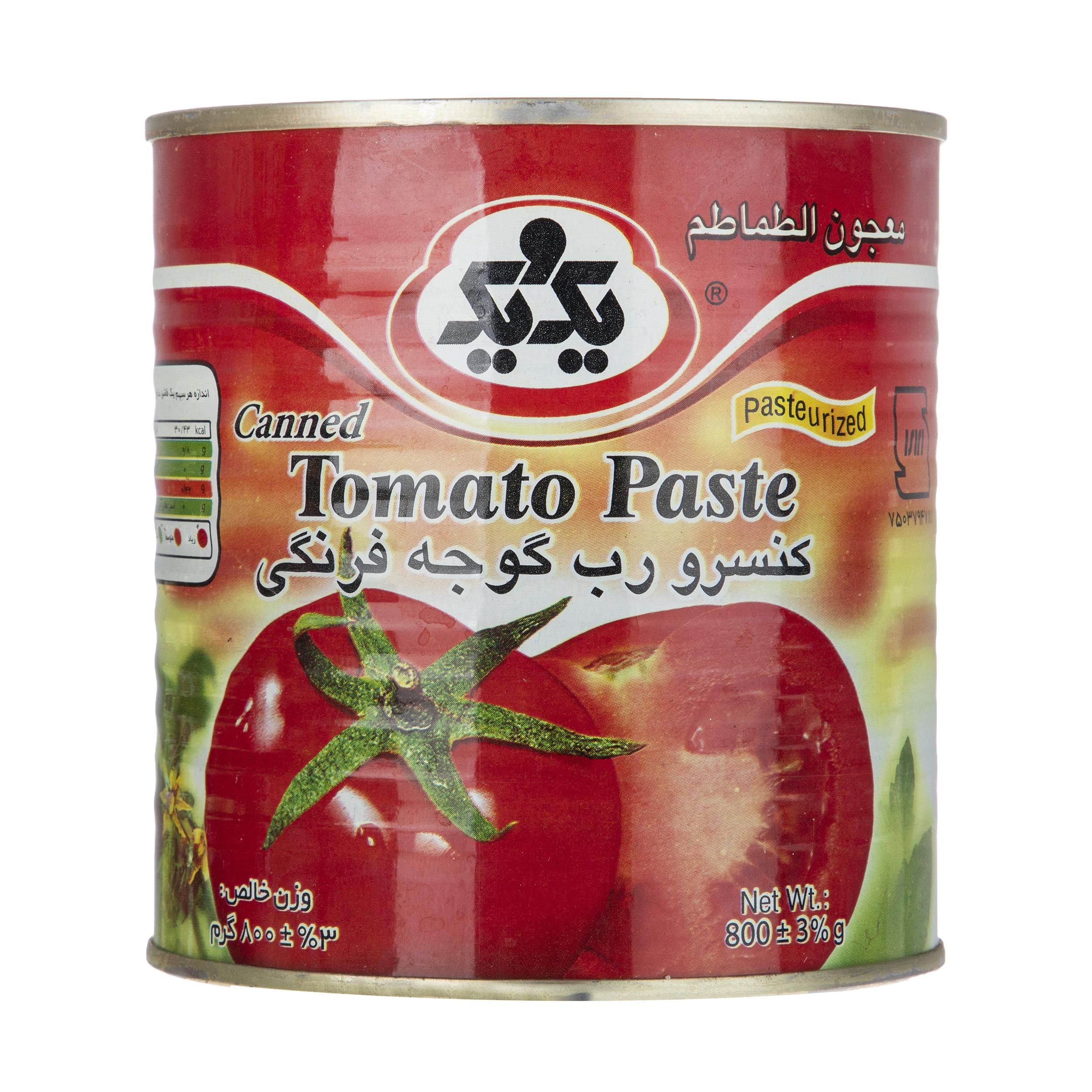 رب گوجه فرنگی یک و یک مقدار 800 گرم
