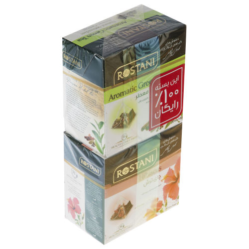دمنوش چای ترش به همراه چای سبز رستنی بسته 20 عددی