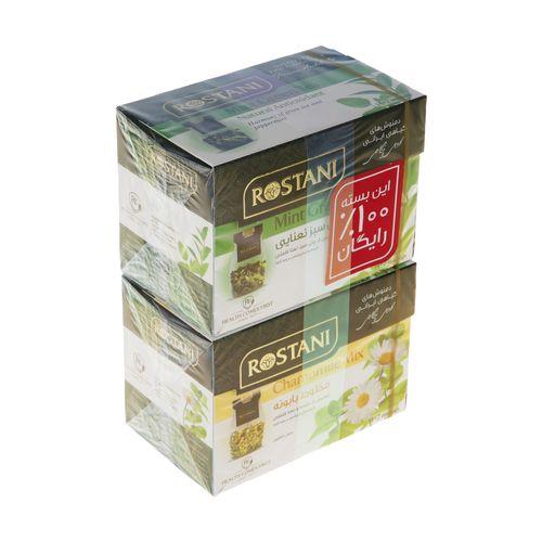 دمنوش مخلوط بابونه به همراه چای سبز رستنی بسته 16 عددی