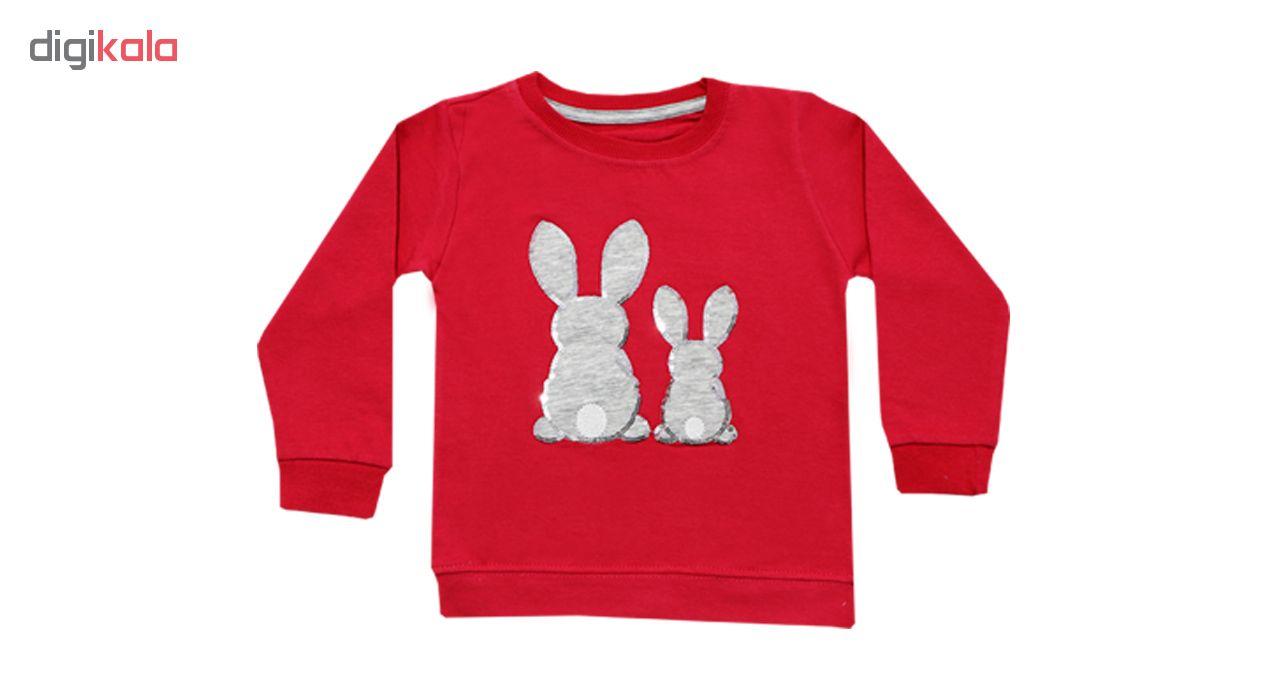 ست بلوز و شلوار دخترانه طرح خرگوش کد 248-04