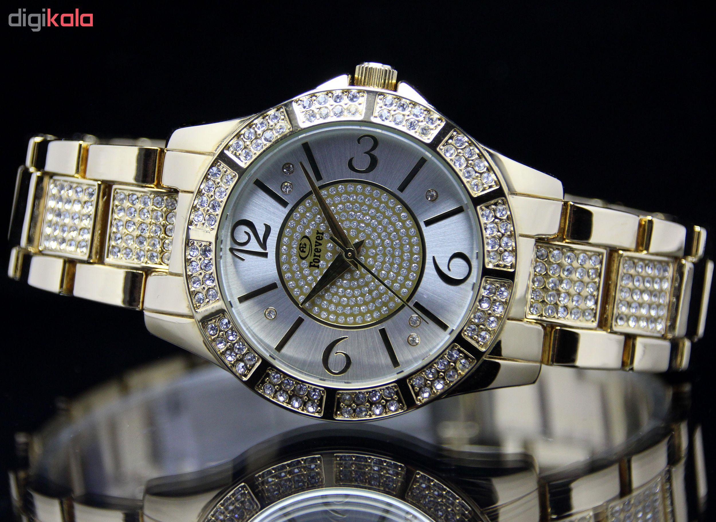 ساعت مچی عقربه ای زنانه فوراور مدل SN-S10215S-G