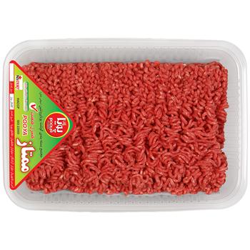 گوشت چرخ کرده مخلوط گوساله و گوسفند پویا پروتئین وزن 1 کیلوگرم