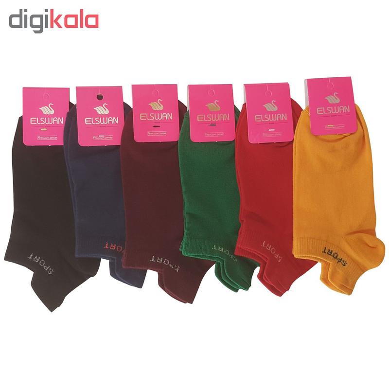 جوراب زنانه ال سون طرح اسپورت کد PH136 مجموعه 12 عددی