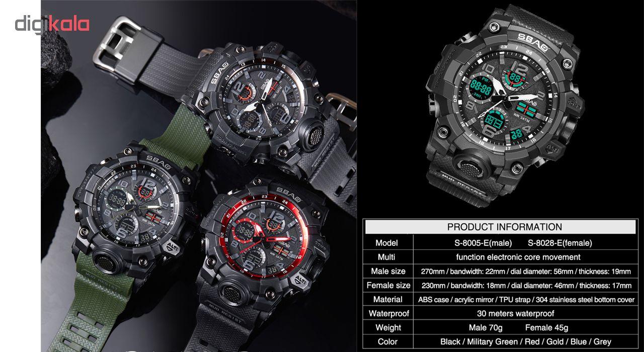 ساعت مچی عقربه ای مردانه اِسباُ مدل 8005e-M رنگ مشکی