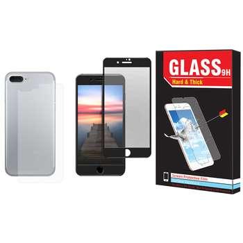 محافظ صفحه نمایش و پشت گوشی Hard and Thick مدل F-01 مناسب برای گوشی موبایل اپل Iphone 8 plus