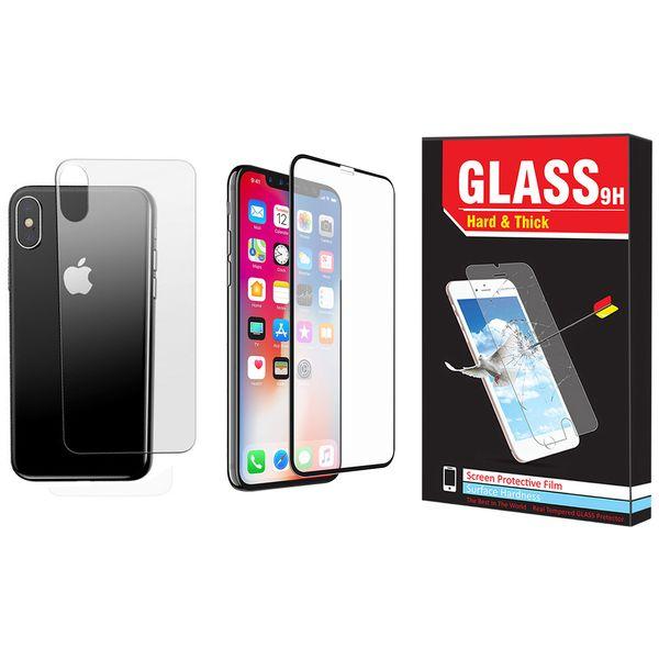 محافظ صفحه نمایش  و پشت گوشی Hard and Thick مدل F-01 مناسب برای گوشی موبایل اپل Iphone X/Xs