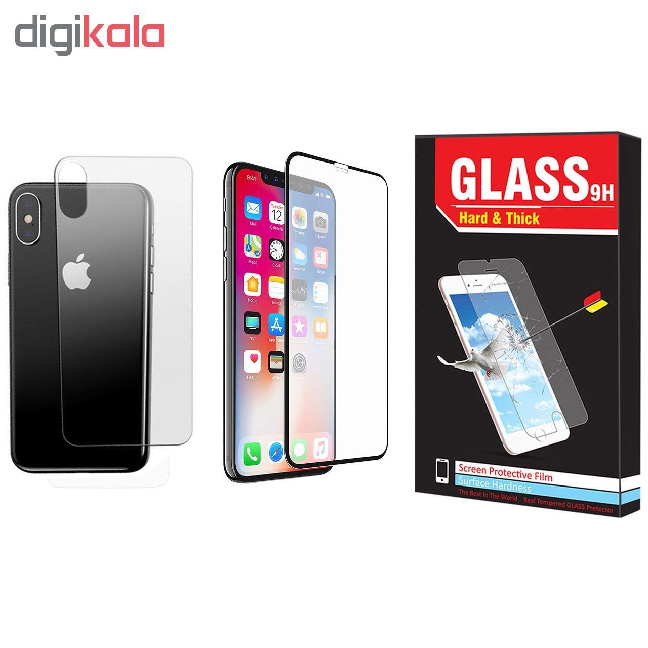 محافظ صفحه نمایش  و پشت گوشی Hard and Thick مدل F-01 مناسب برای گوشی موبایل اپل Iphone X/Xs main 1 1