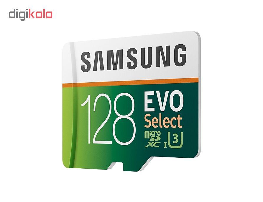 کارت حافظه microSDXC  مدل Evo Select کلاس 10 استاندارد UHS-I U3 سرعت 100MBps ظرفیت 128 گیگابایت به همراه آداپتور SD