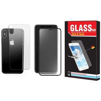 محافظ صفحه نمایش و پشت گوشی Hard and Thick مدل F-01 مناسب برای گوشی موبایل اپل Iphone XR