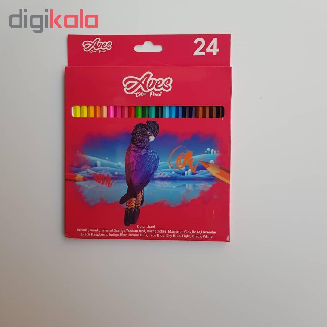 مداد رنگی ۲۴ رنگ اویز مدل فان main 1 1
