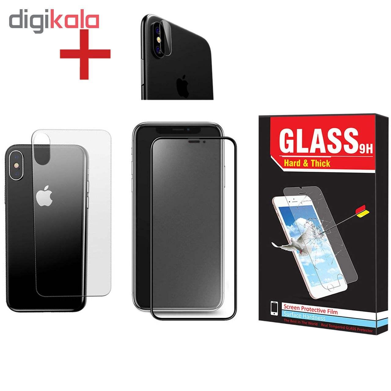 محافظ صفحه نمایش و پشت گوشی Hard and Thick مدل F-01 مناسب برای گوشی موبایل اپل Iphone X/Xs به همراه محافظ لنز دوربین main 1 1