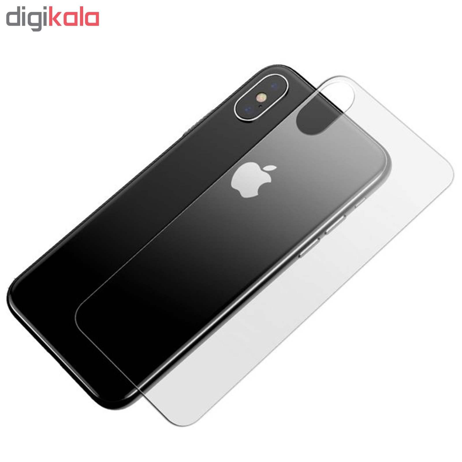 محافظ صفحه نمایش و پشت گوشی Hard and Thick مدل F-01 مناسب برای گوشی موبایل اپل Iphone X/Xs به همراه محافظ لنز دوربین main 1 6