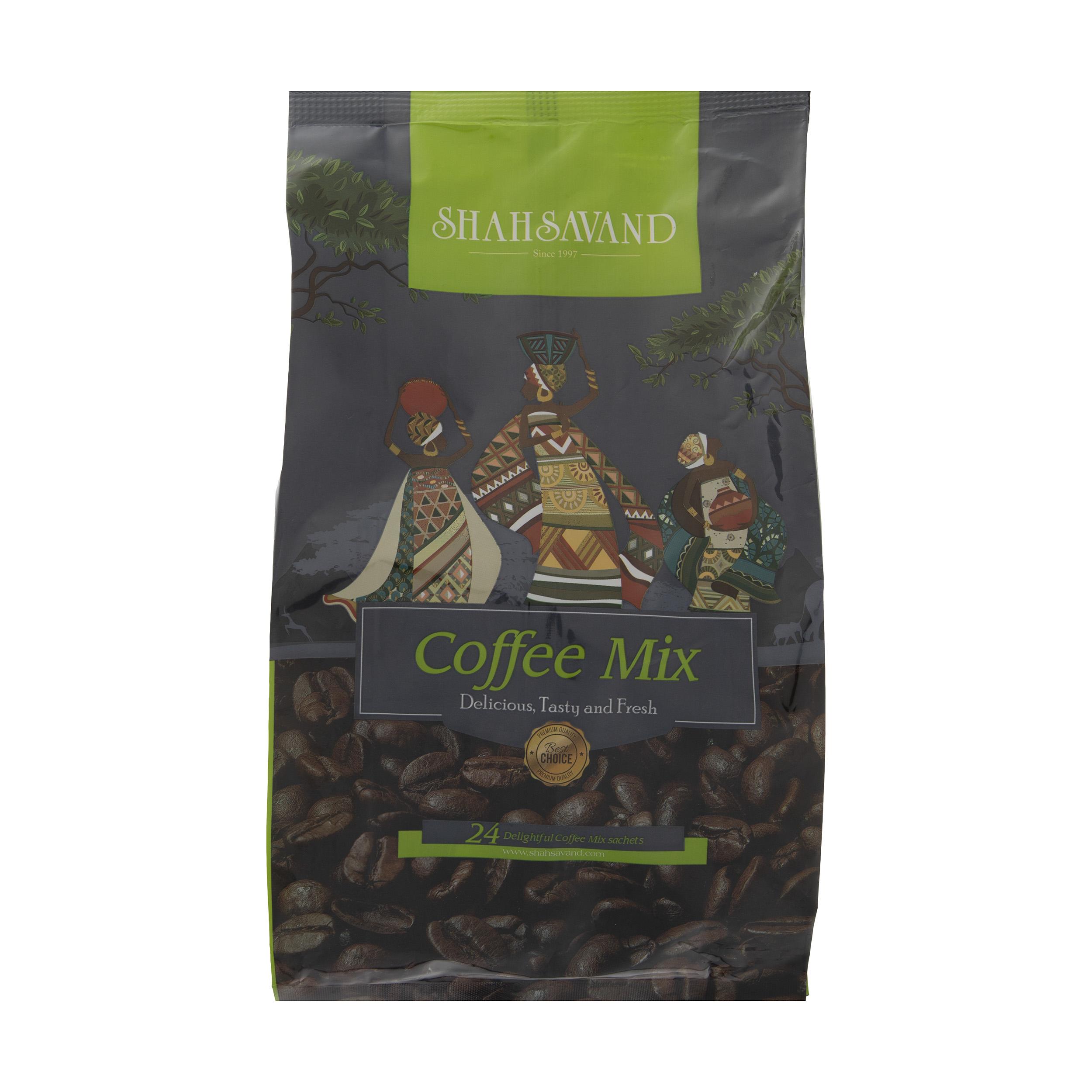 قهوه فوری کافی میکس شاهسوند بسته 24 عددی