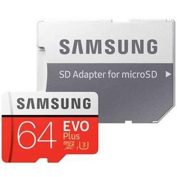 کارت حافظه microSDXC مدل Evo Plus کلاس 10 استاندارد UHS-I U3 سرعت 100MBps ظرفیت 64 گیگابایت به  همراه  آداپتور SD