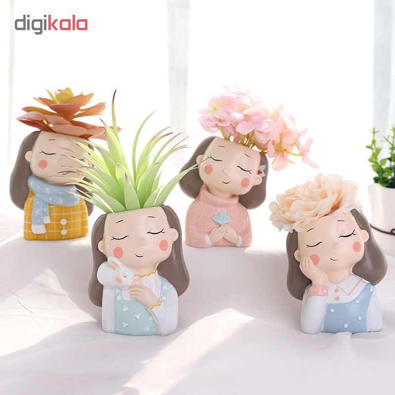 گلدان طرح دختران زمستانی کد Gw01 مجموعه 4 عددی main 1 10
